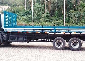 Carroceria de madeira usada para caminhão 3 4